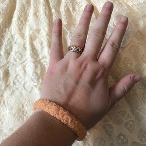 Jewelry - Peach Floral Bracelet Cuff